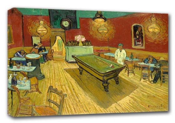 Van Gogh, Vincent: The Night Cafe, 1888 (Le Cafe de Nuit). Fine Art Canvas. Sizes: A3/A2/A1 (00269)